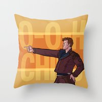 starlord Throw Pillows featuring Dance Off Bro by Lydia Butz