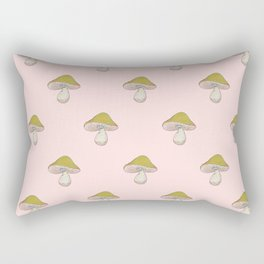 Capped Fellow pattern in peach Rectangular Pillow