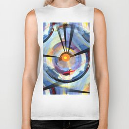 Abstract Charm Offensive Biker Tank