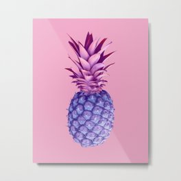 Violet pineapples Metal Print