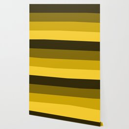Yellow Horizontal Stripes Design Wallpaper