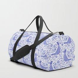 Nordic Bird Blue Duffle Bag