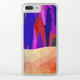 Abstract Colorful Pastel look Design Clear iPhone Case