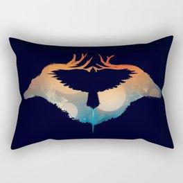 Night sky over savanna Rectangular Pillow