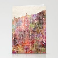 chicago map Stationery Cards featuring Chicago map by MapMapMaps.Watercolors