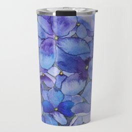 Watercolour Hydrangea Travel Mug