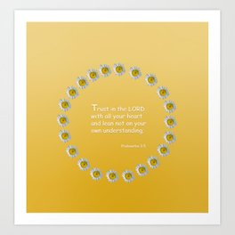 Trust in the Lord Daisy Ring Art Print