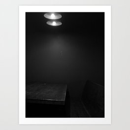 In the Corner in the Booth Art Print