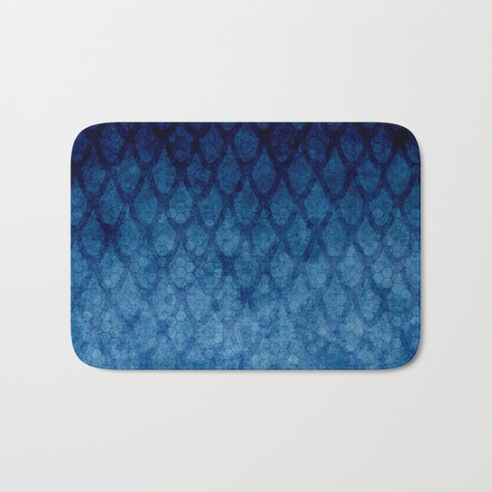 Blue texture Bath Mat