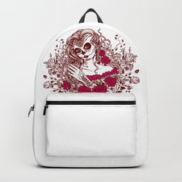 Sexy Woman zombie WITH Flower - Razzmatazz Backpack