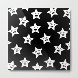 Happy Stars Metal Print