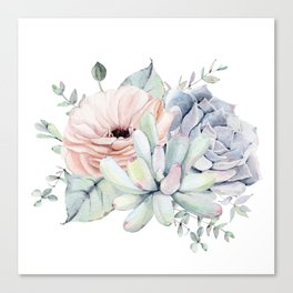 Pretty Succulents by Nature Magick Canvas Print