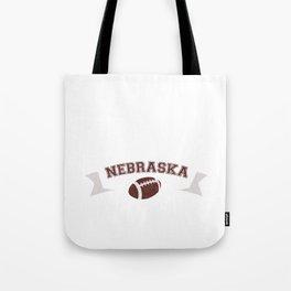 Just a Baller from Nebraska Football Player Tote Bag