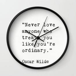 Oscar Wilde quote 50 Wall Clock