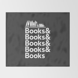 Books & Books & Books Throw Blanket