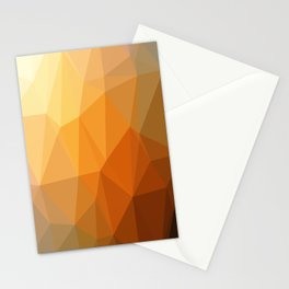 Shades Of Orange Triangle Abstract Stationery Cards