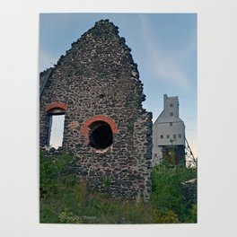 Quincy Hill Mine Shaft and Ruins Poster