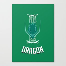 Saint of Dragon Canvas Print