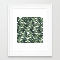 banana leaf Framed Art Prints featuring BANANA LEAF by bows & arrows
