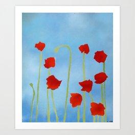 Poppies tall Art Print