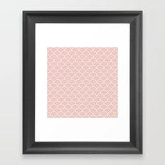 Scallops Quartz Framed Art Print