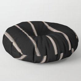Skinny Strokes Gapped Vertical Nude on Black Floor Pillow