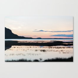 Sunset in Iceland - nature landscape Canvas Print