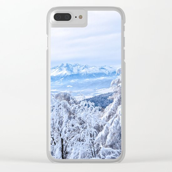 White out #mountains #winter Clear iPhone Case