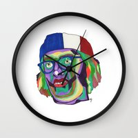 america Wall Clocks featuring America by Masonjohnson