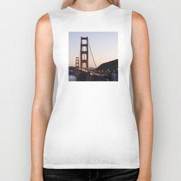 Golden Gate Bridge at Twilight Biker Tank