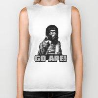 ape Biker Tanks featuring Vintage Ape * Go Ape by Freak Shop   Freak Products