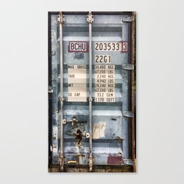 Cargo container Canvas Print