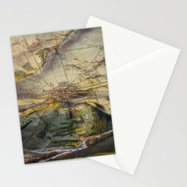 Vintage Map of The Gettysburg Battlefield (1863) Stationery Cards