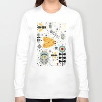 bugs Long Sleeve T-shirts featuring Midnight Bugs  by Carly Watts