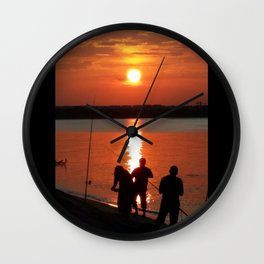 UNDER THE SETTING SUN Wall Clock