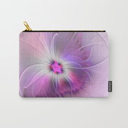 Abstract Flower With Pink And Purple Fractal Carry-All Pouch