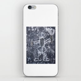 The gladiator disarmed.  Drawing, monotype ink, with a few extra touches of colors. iPhone Skin