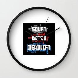 Squat Bench Deadlift Wall Clock