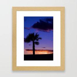 Palm Sunset - V Framed Art Print