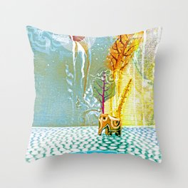 Salatarian EYELAND Lagoon Throw Pillow