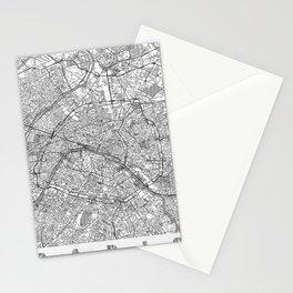 Paris Map Line Stationery Cards