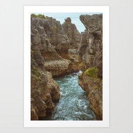 Pancake Rock Cliffs Art Print
