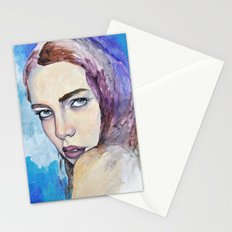 Profile in Purple Acrylic Stationery Cards