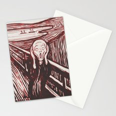 The Scream's Haze (red) Stationery Cards