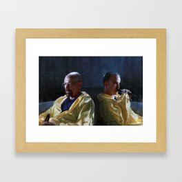 Walter White and Jesse Having A Beer After A Long Day's Work - Breaking Bad Framed Art Print