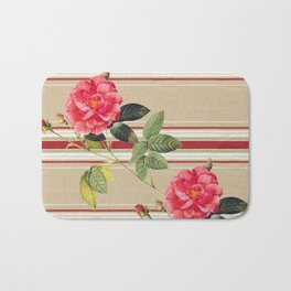 Shabby Chic Cottage Roses Bath Mat