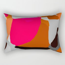 Abstract in Pink, Brown and Grey Rectangular Pillow