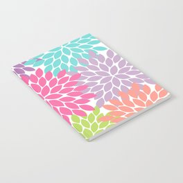 Colorful Floral Flower Petals Notebook