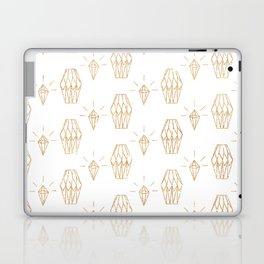 White gold faux glitter elegant diamond geometrical Laptop & iPad Skin