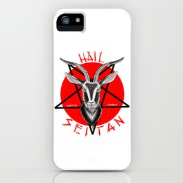 Hail seitan // vegan // baphomet iPhone Case